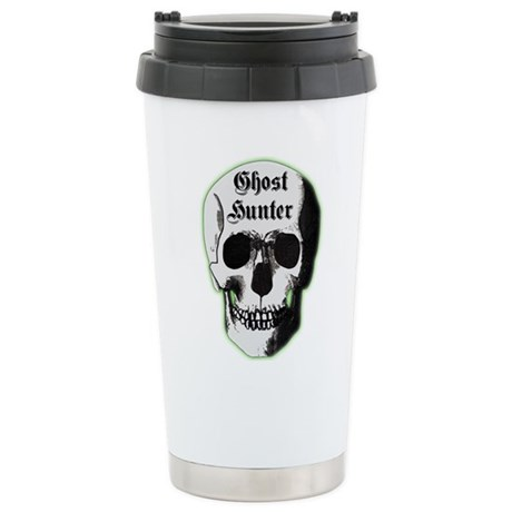 Ghost Hunter Skull Stainless Steel Travel Mug