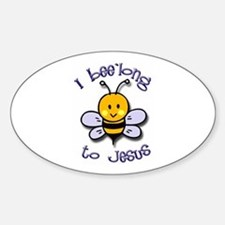 I Bee'long to Jesus (1) Oval Decal