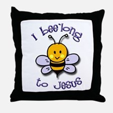 I Bee'long to Jesus (1) Throw Pillow