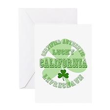 Lucky California Leprechaun Greeting Card