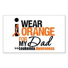 Leukemia (Dad) Rectangle Decal
