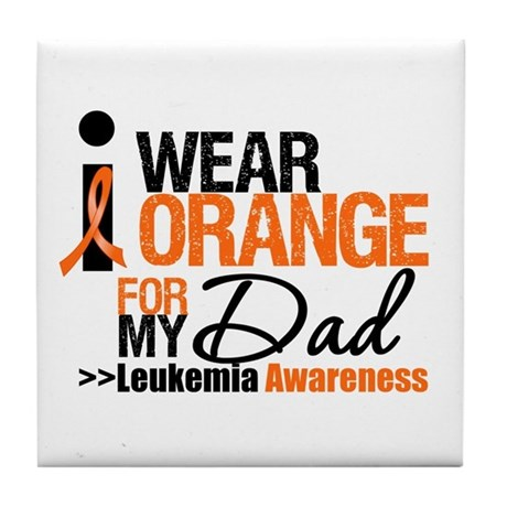 Leukemia (Dad) Tile Coaster