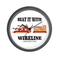 Beat It With Wireline Wall Clock