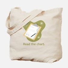Read the Chart Tote Bag
