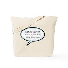 Communication Reminder Tote Bag