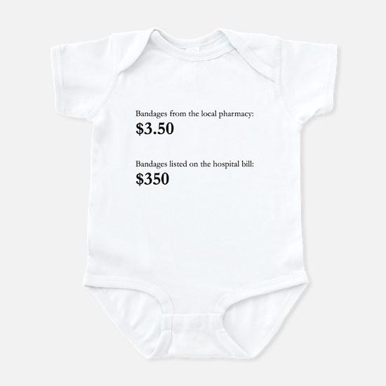 Bandages Cost ALOT Infant Bodysuit