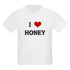 I Love HONEY Kids Light T-Shirt
