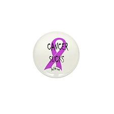 Cancer Sucks Mini Button (10 pack)
