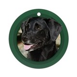 Dog christmas tree Round Ornaments
