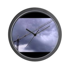 Cute Construction cranes Wall Clock