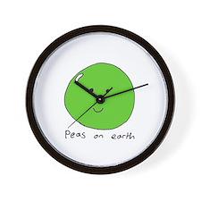 Cute Peas earth Wall Clock