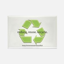 """""""reduce. reuse. recycle."""" Rectangle Magnet"""