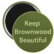 """Keep Brownwood Beautiful"" Magnet"