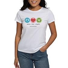 """peace. love. recycle"" Tee"