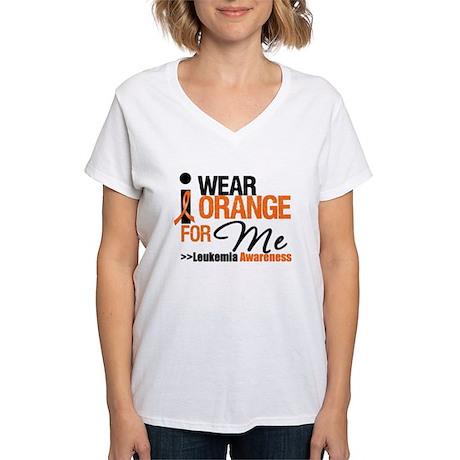 Leukemia (For Me) Women's V-Neck T-Shirt