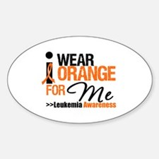 Leukemia (For Me) Oval Decal