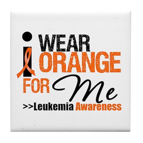 Leukemia (For Me) Tile Coaster