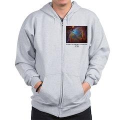 Carl Sagan B Zip Hoodie