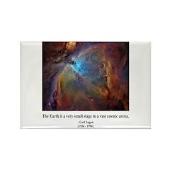 Carl Sagan B Rectangle Magnet (100 pack)