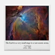 Carl Sagan B Tile Coaster