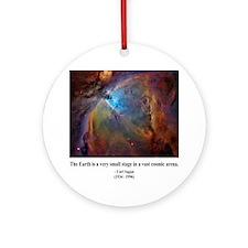 Carl Sagan B Ornament (Round)