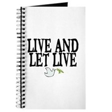 LIVE AND LET LIVE (DOVE) Journal