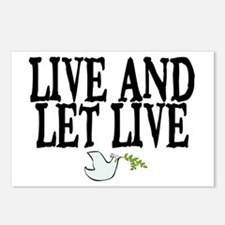 LIVE AND LET LIVE (DOVE) Postcards (Package of 8)