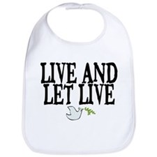 LIVE AND LET LIVE (DOVE) Bib