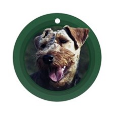 Welsh Terrier Green Round Ornament