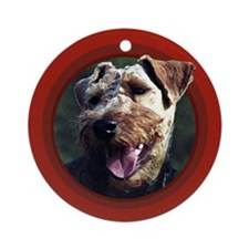 Welsh Terrier Red Round Ornament
