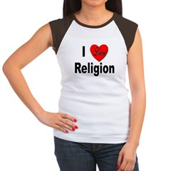 I Love Religion (Front) Women's Cap Sleeve T-Shirt