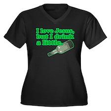 Jesus Drink Women's Plus Size V-Neck Dark T-Shirt