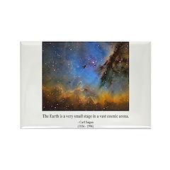 Carl Sagan D Rectangle Magnet (100 pack)