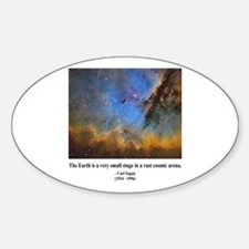 Carl Sagan D Oval Decal
