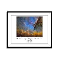 Carl Sagan D Framed Panel Print