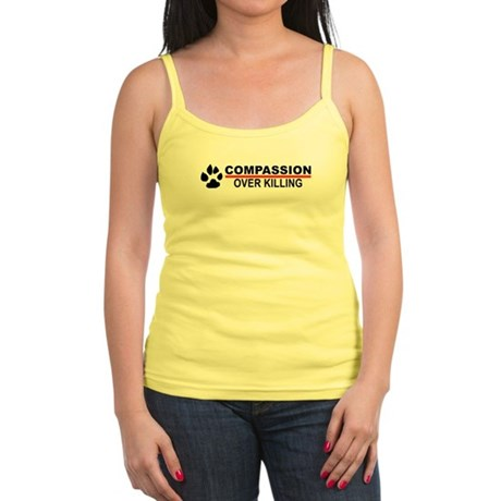 Compassion Over Killing Logo Jr. Spaghetti Tank
