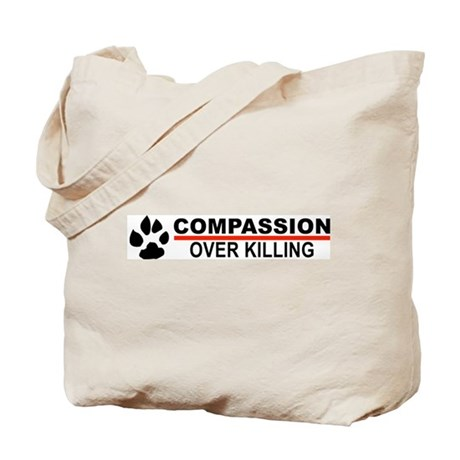 Compassion Over Killing Logo Tote Bag