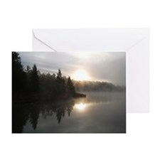 Sunrise on Bridge Lake, MI Greeting Card