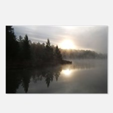 Sunrise on Bridge Lake, MI Postcards (Package of 8