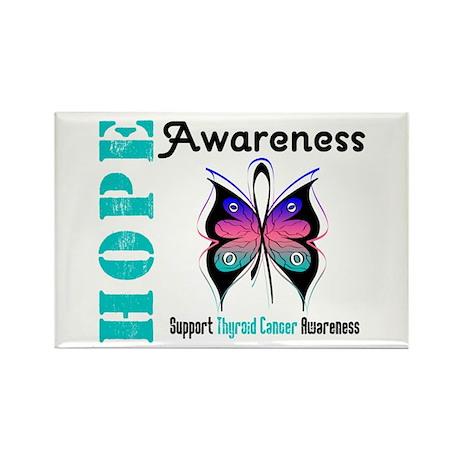 Thyroid Cancer Hope Rectangle Magnet (100 pack)