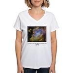 Carl Sagan J Women's V-Neck T-Shirt