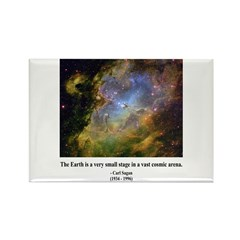 Carl Sagan J Rectangle Magnet