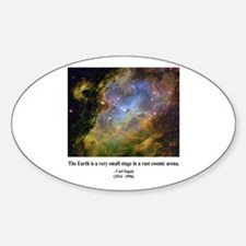 Carl Sagan J Oval Decal