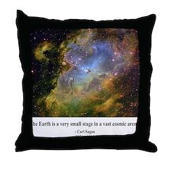 Carl Sagan J Throw Pillow