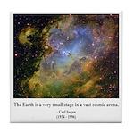 Carl Sagan J Tile Coaster