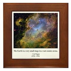 Carl Sagan J Framed Tile