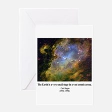 Carl Sagan J Greeting Card