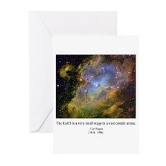 Carl Sagan J Greeting Cards (Pk of 10)