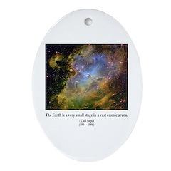 Carl Sagan J Oval Ornament