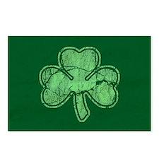 Retro St Patricks Day Shamrock Postcards (Package